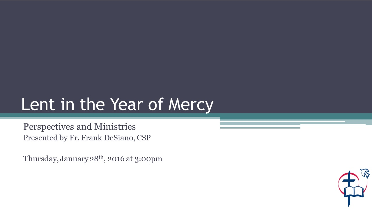 Lent in the Year of Mercy 1 28 16